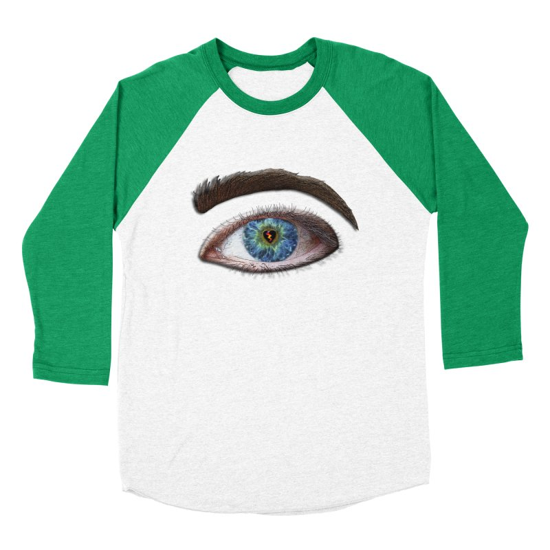 When you see the world through a broken heart Blue Green eye sadness empathy humanism love Men's Baseball Triblend Longsleeve T-Shirt by Fringe Walkers Shirts n Prints