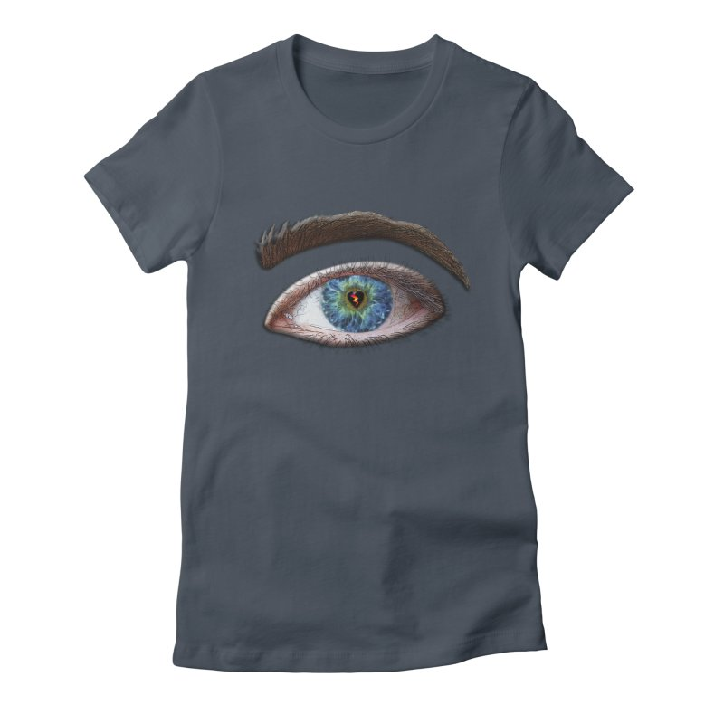 When you see the world through a broken heart Blue Green eye sadness empathy humanism love Women's T-Shirt by Fringe Walkers Shirts n Prints