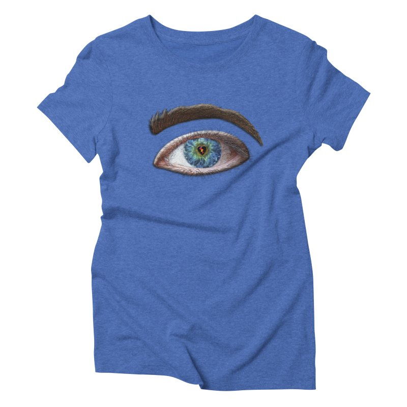 When you see the world through a broken heart Blue Green eye sadness empathy humanism love Women's Triblend T-Shirt by Fringe Walkers Shirts n Prints