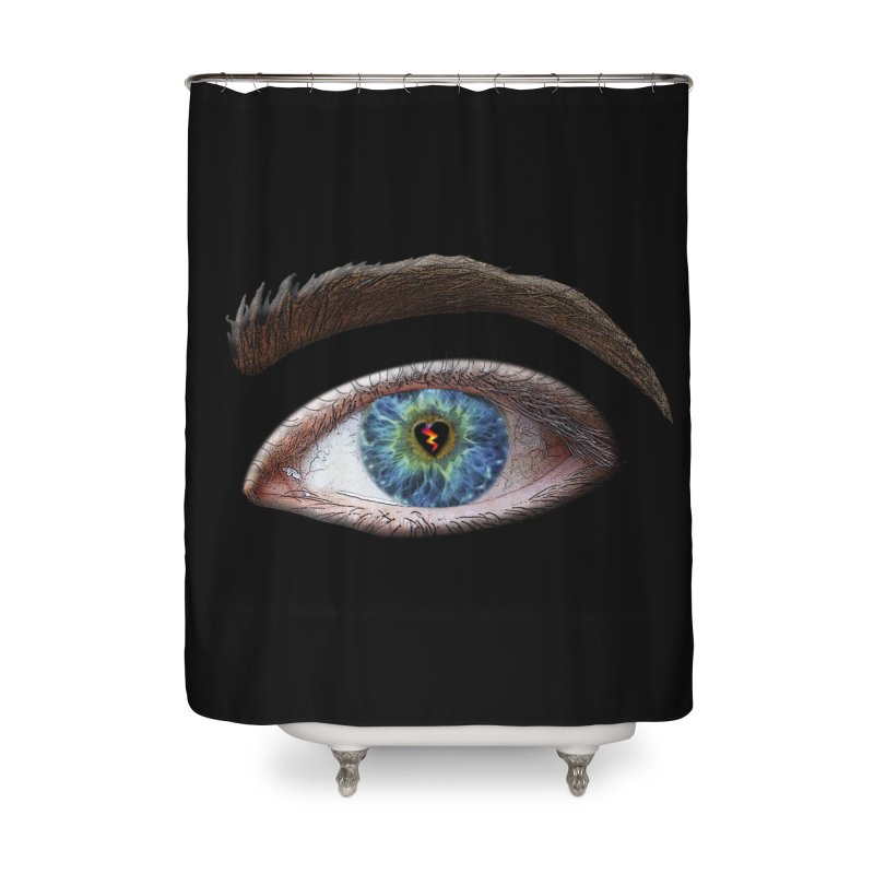 When you see the world through a broken heart Blue Green eye sadness empathy humanism love Home Shower Curtain by Fringe Walkers Shirts n Prints