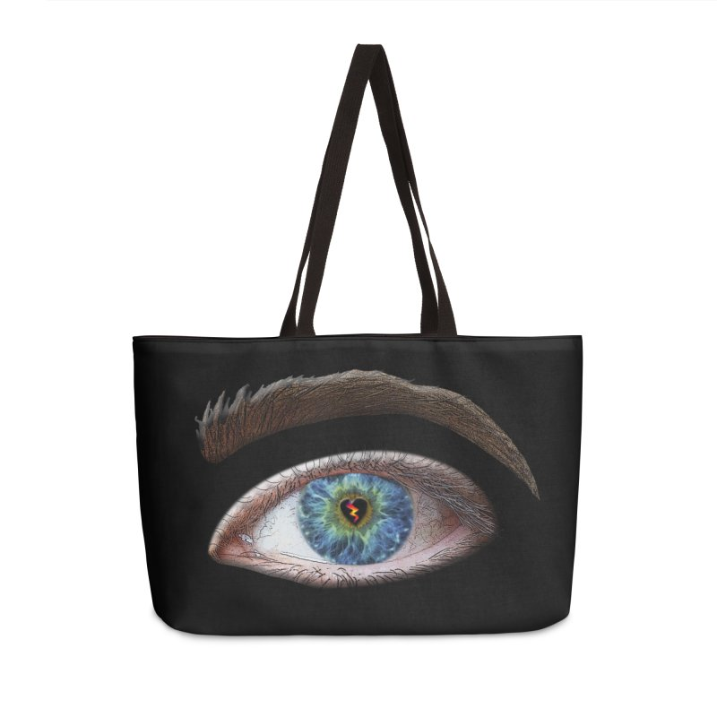 When you see the world through a broken heart Blue Green eye sadness empathy humanism love Accessories Weekender Bag Bag by Fringe Walkers Shirts n Prints