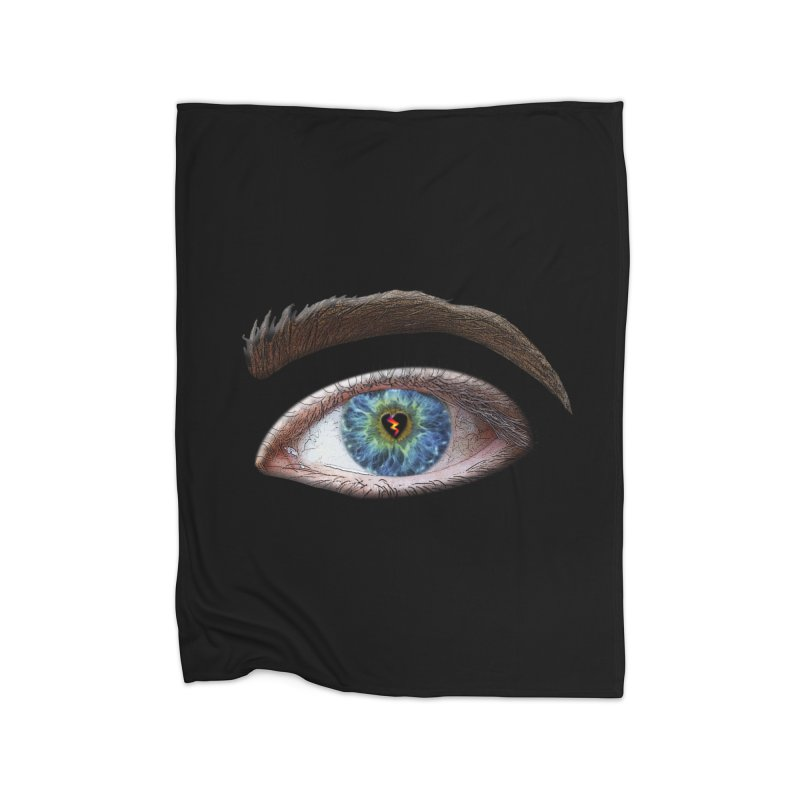 When you see the world through a broken heart Blue Green eye sadness empathy humanism love Home Blanket by Fringe Walkers Shirts n Prints