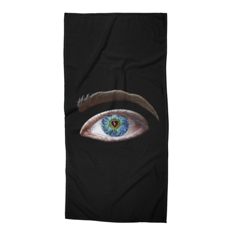When you see the world through a broken heart Blue Green eye sadness empathy humanism love Accessories Beach Towel by Fringe Walkers Shirts n Prints