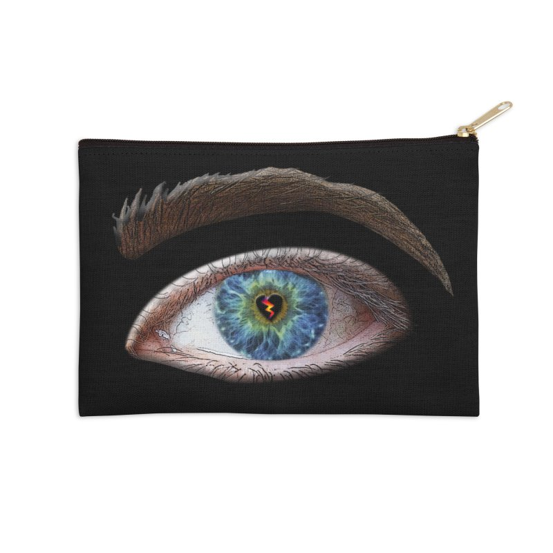 When you see the world through a broken heart Blue Green eye sadness empathy humanism love Accessories Zip Pouch by Fringe Walkers Shirts n Prints