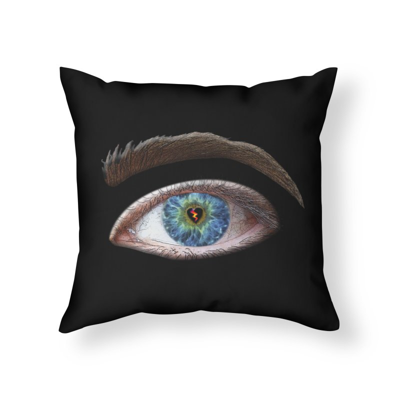When you see the world through a broken heart Blue Green eye sadness empathy humanism love Home Throw Pillow by Fringe Walkers Shirts n Prints