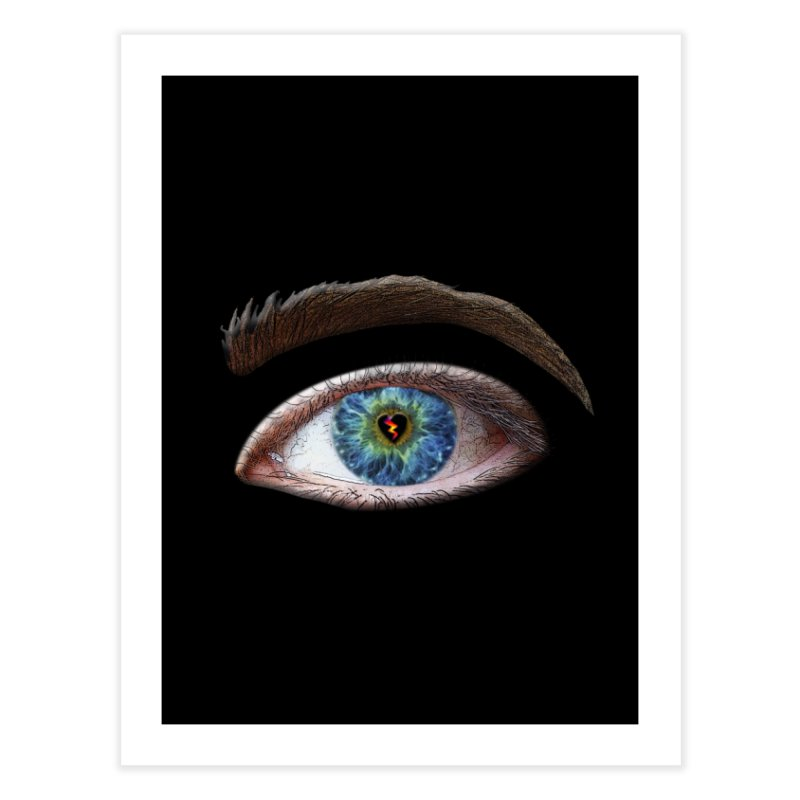 When you see the world through a broken heart Blue Green eye sadness empathy humanism love Home Fine Art Print by Fringe Walkers Shirts n Prints