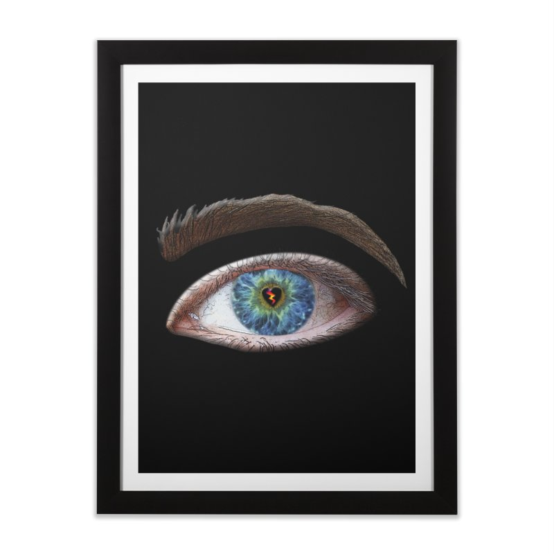 When you see the world through a broken heart Blue Green eye sadness empathy humanism love Home Framed Fine Art Print by Fringe Walkers Shirts n Prints