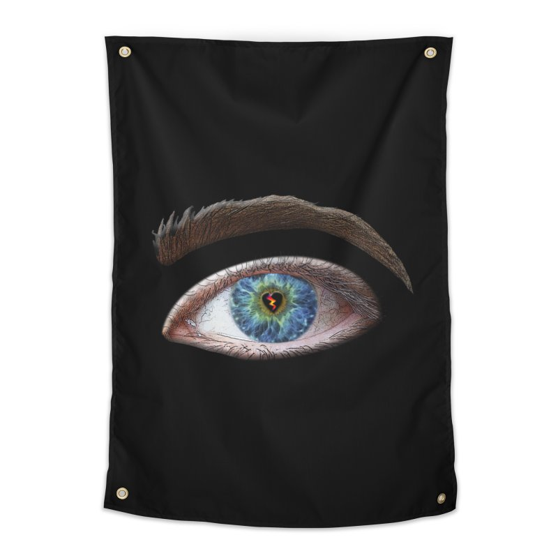 When you see the world through a broken heart Blue Green eye sadness empathy humanism love Home Tapestry by Fringe Walkers Shirts n Prints