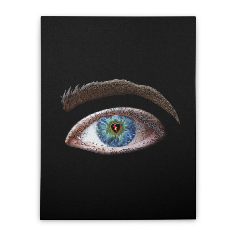 When you see the world through a broken heart Blue Green eye sadness empathy humanism love Home Stretched Canvas by Fringe Walkers Shirts n Prints