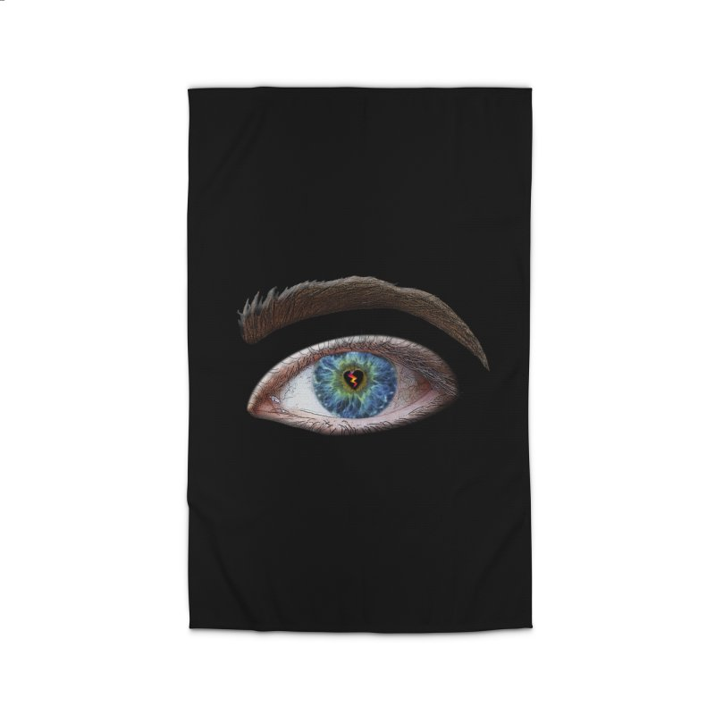 When you see the world through a broken heart Blue Green eye sadness empathy humanism love Home Rug by Fringe Walkers Shirts n Prints