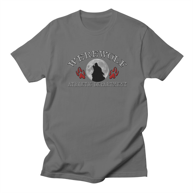 Werewolf Athletic Department Full Moon Howling Wolf Crew Animagus Shape Shifter Moonlight Men's T-Shirt by Fringe Walkers Shirts n Prints