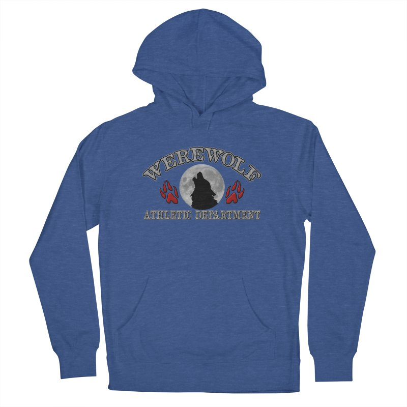 Werewolf Athletic Department Full Moon Howling Wolf Crew Animagus Shape Shifter Moonlight Men's Pullover Hoody by Fringe Walkers Shirts n Prints