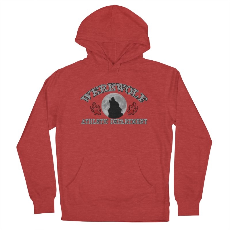 Werewolf Athletic Department Full Moon Howling Wolf Crew Animagus Shape Shifter Moonlight Men's French Terry Pullover Hoody by Fringe Walkers Shirts n Prints