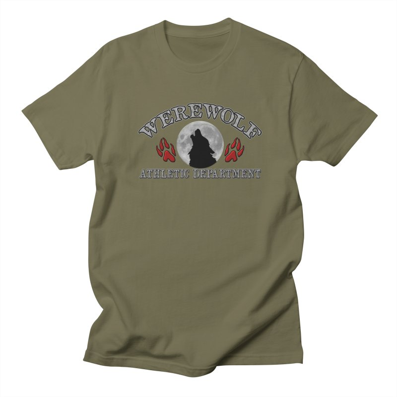 Werewolf Athletic Department Full Moon Howling Wolf Crew Animagus Shape Shifter Moonlight Women's Unisex T-Shirt by Fringe Walkers Shirts n Prints