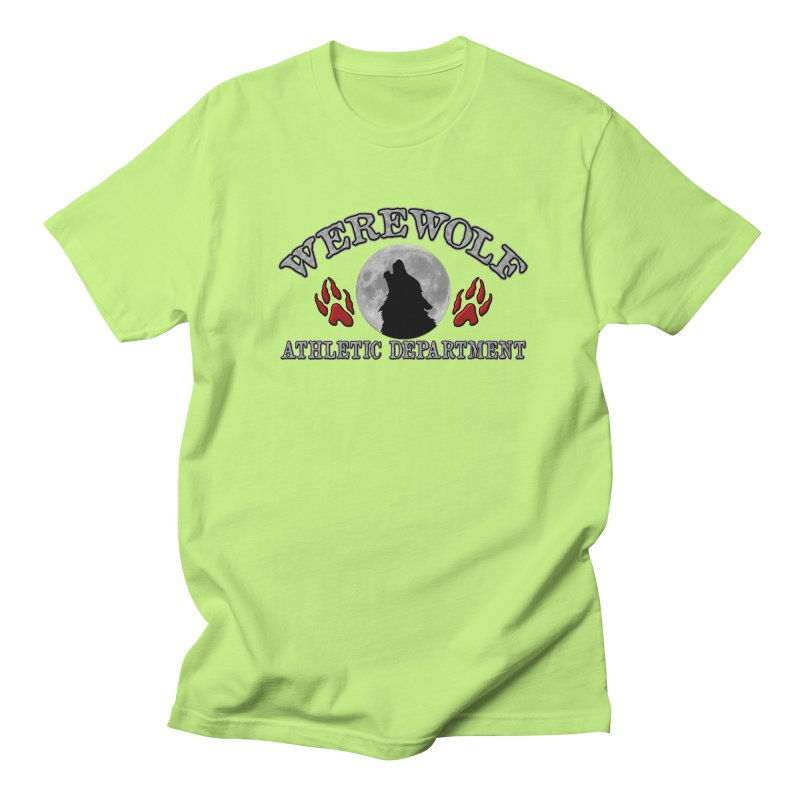 Werewolf Athletic Department Full Moon Howling Wolf Crew Animagus Shape Shifter Moonlight Women's Regular Unisex T-Shirt by Fringe Walkers Shirts n Prints