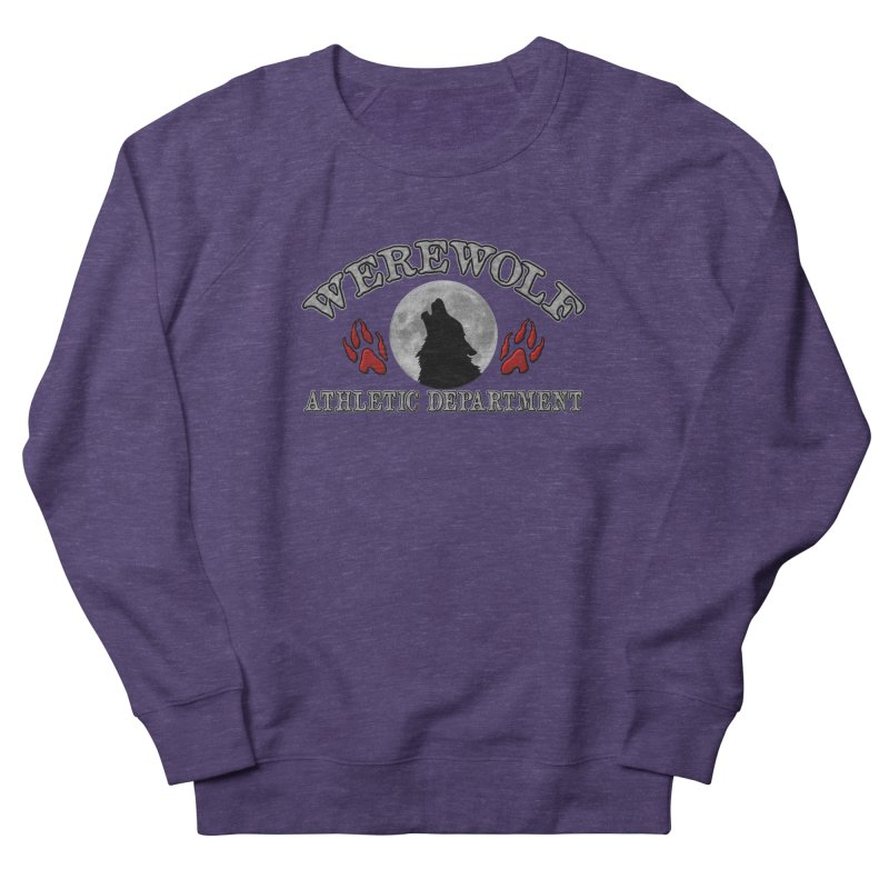 Werewolf Athletic Department Full Moon Howling Wolf Crew Animagus Shape Shifter Moonlight Women's French Terry Sweatshirt by Fringe Walkers Shirts n Prints