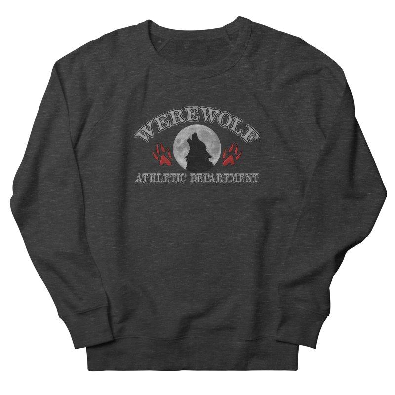 Werewolf Athletic Department Full Moon Howling Wolf Crew Animagus Shape Shifter Moonlight Men's Sweatshirt by Fringe Walkers Shirts n Prints