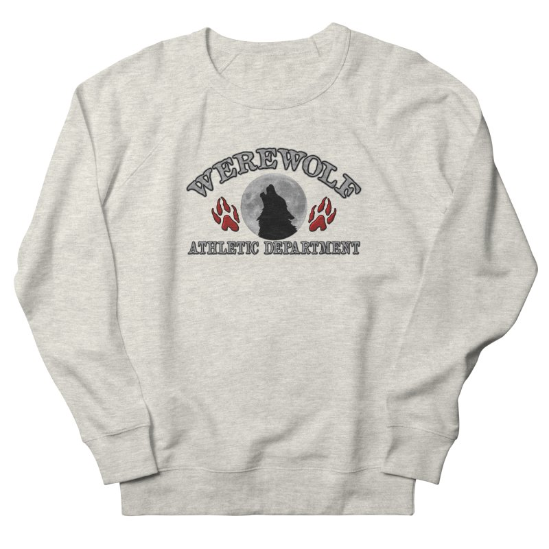 Werewolf Athletic Department Full Moon Howling Wolf Crew Animagus Shape Shifter Moonlight Men's Sweatshirt by Fringe Walkers Shirts n Prints