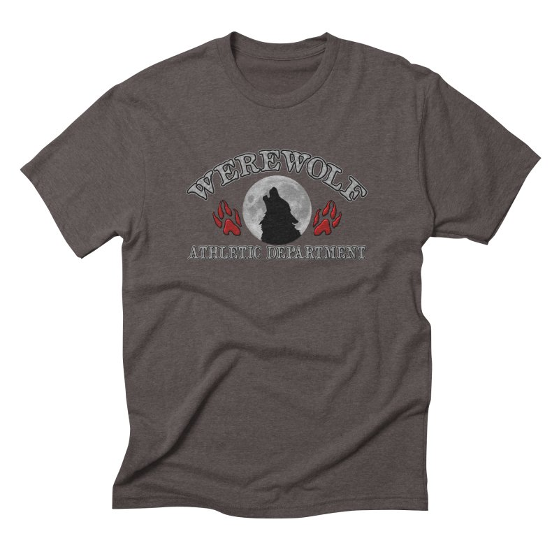 Werewolf Athletic Department Full Moon Howling Wolf Crew Animagus Shape Shifter Moonlight Men's Triblend T-Shirt by Fringe Walkers Shirts n Prints