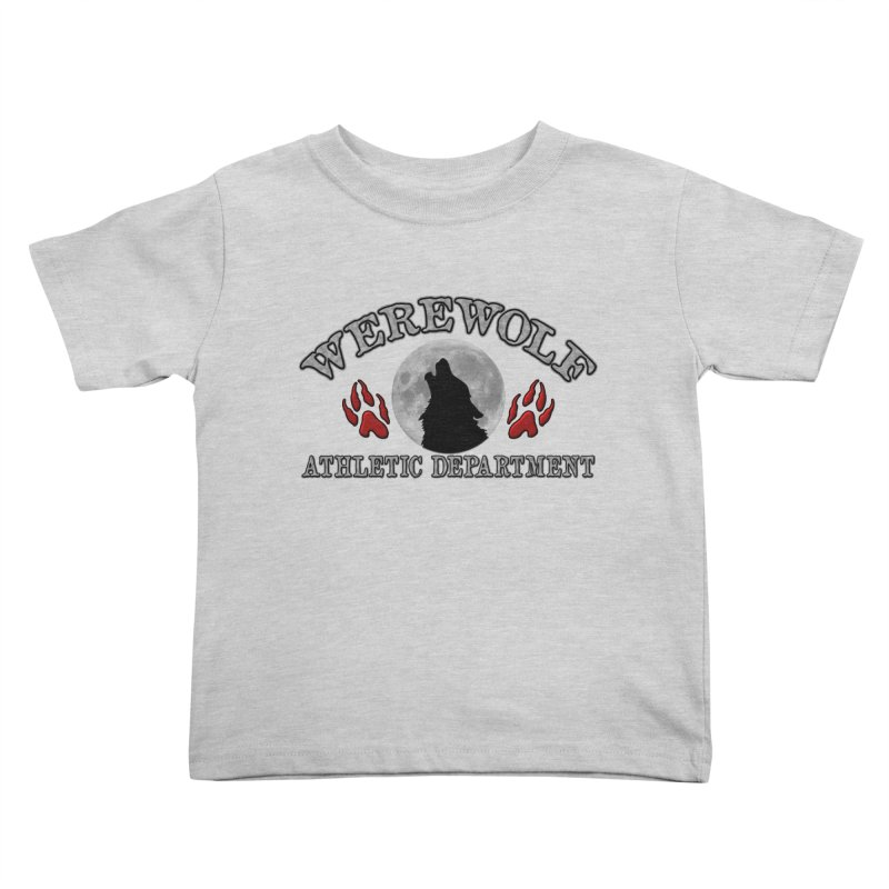 Werewolf Athletic Department Full Moon Howling Wolf Crew Animagus Shape Shifter Moonlight Kids Toddler T-Shirt by Fringe Walkers Shirts n Prints