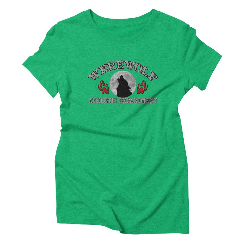 Werewolf Athletic Department Full Moon Howling Wolf Crew Animagus Shape Shifter Moonlight Women's Triblend T-Shirt by Fringe Walkers Shirts n Prints