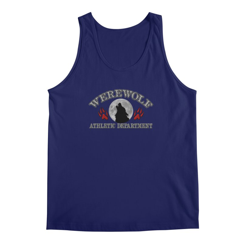 Werewolf Athletic Department Full Moon Howling Wolf Crew Animagus Shape Shifter Moonlight Men's Regular Tank by Fringe Walkers Shirts n Prints