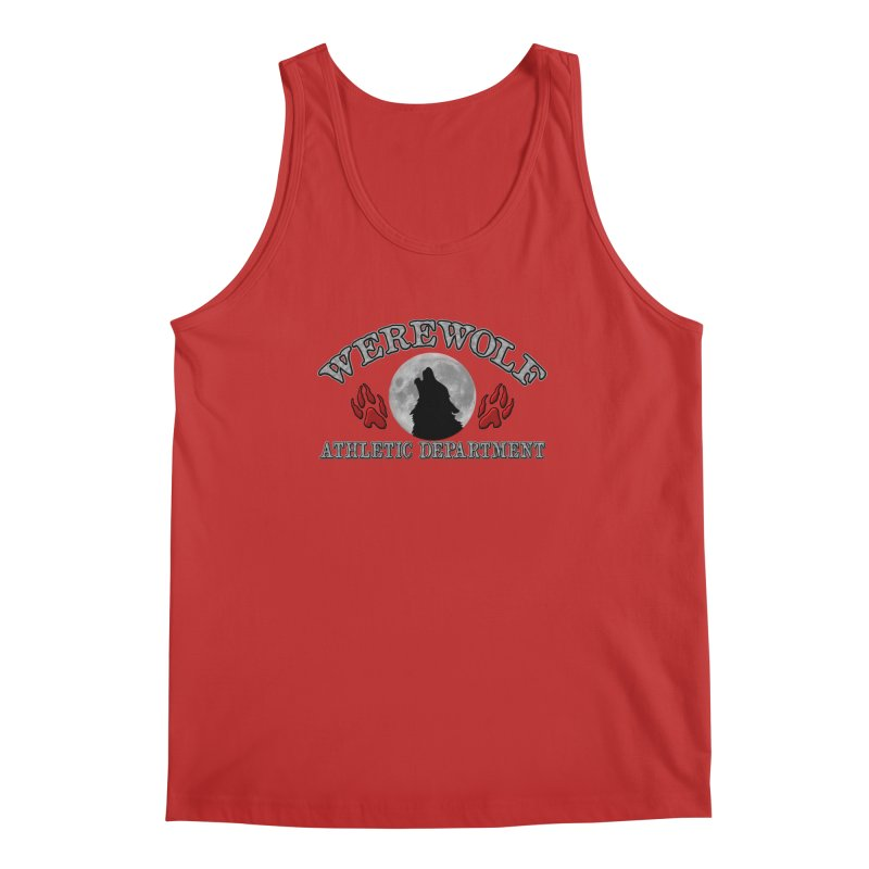 Werewolf Athletic Department Full Moon Howling Wolf Crew Animagus Shape Shifter Moonlight Men's Tank by Fringe Walkers Shirts n Prints