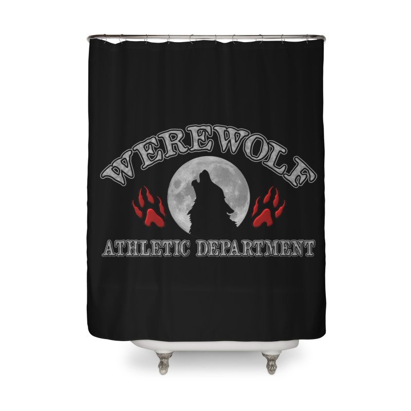 Werewolf Athletic Department Full Moon Howling Wolf Crew Animagus Shape Shifter Moonlight Home Shower Curtain by Fringe Walkers Shirts n Prints