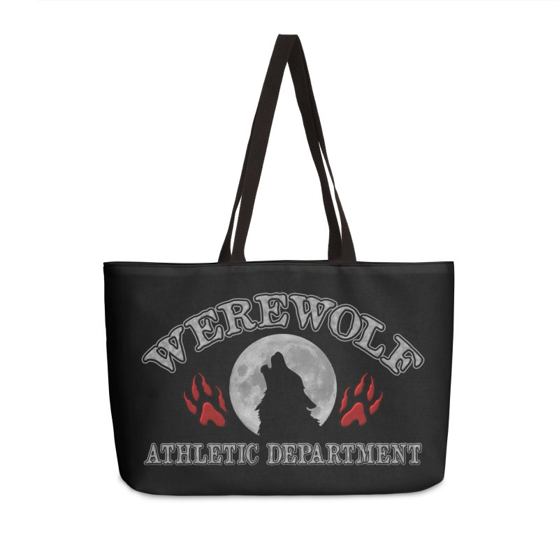 Werewolf Athletic Department Full Moon Howling Wolf Crew Animagus Shape Shifter Moonlight Accessories Weekender Bag Bag by Fringe Walkers Shirts n Prints