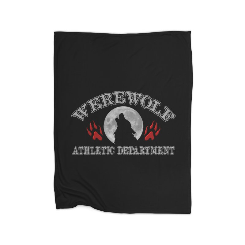 Werewolf Athletic Department Full Moon Howling Wolf Crew Animagus Shape Shifter Moonlight Home Blanket by Fringe Walkers Shirts n Prints