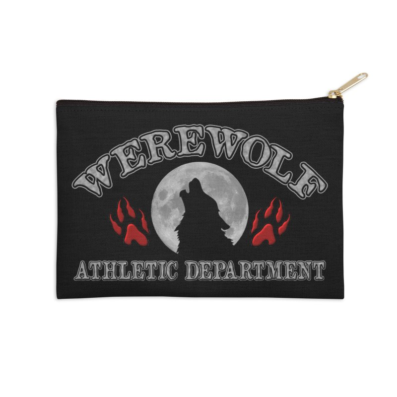 Werewolf Athletic Department Full Moon Howling Wolf Crew Animagus Shape Shifter Moonlight Accessories Zip Pouch by Fringe Walkers Shirts n Prints