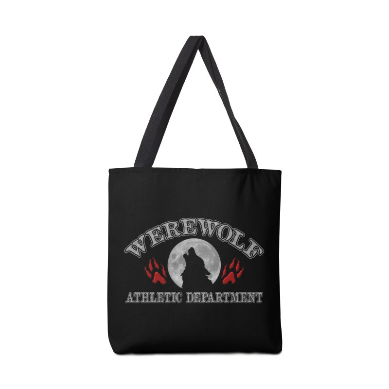 Werewolf Athletic Department Full Moon Howling Wolf Crew Animagus Shape Shifter Moonlight Accessories Tote Bag Bag by Fringe Walkers Shirts n Prints