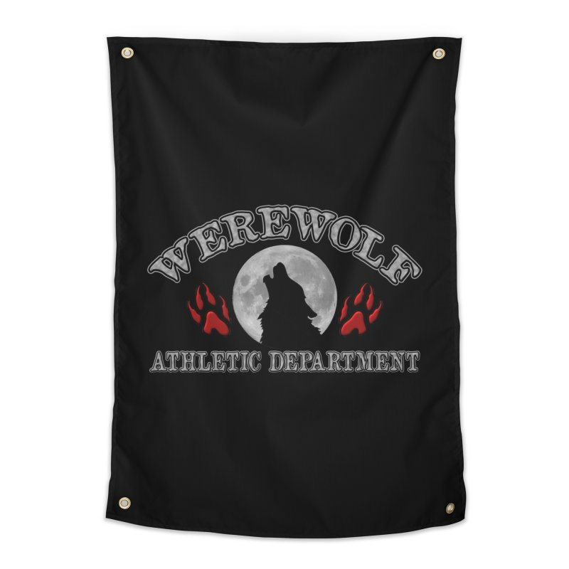 Werewolf Athletic Department Full Moon Howling Wolf Crew Animagus Shape Shifter Moonlight Home Tapestry by Fringe Walkers Shirts n Prints