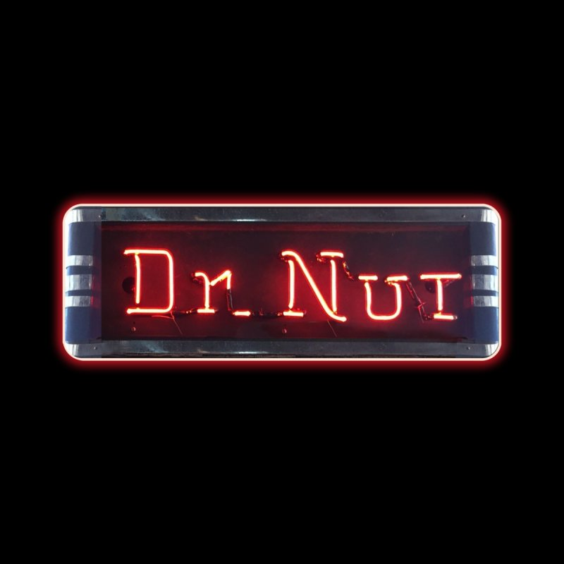 Dr Nut Neon Advertising Sign Vintage Soda Reproduction Ad New Orleans World Bottling Company Home Framed Fine Art Print by Fringe Walkers Shirts n Prints