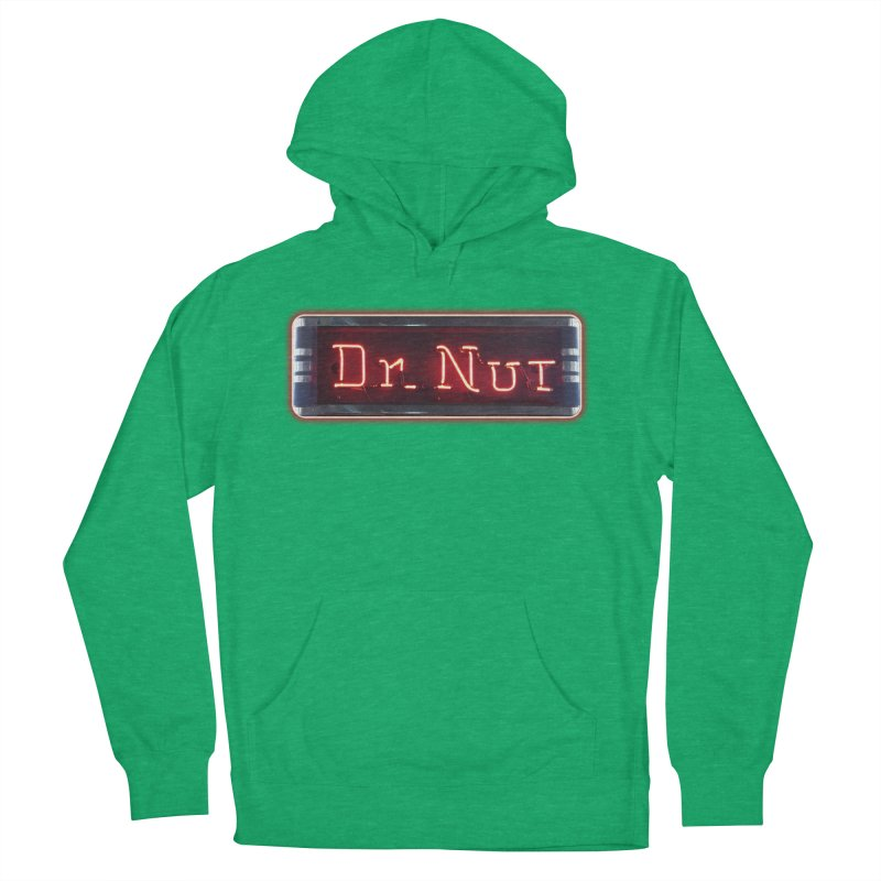 Dr Nut Neon Advertising Sign Vintage Soda Reproduction Ad New Orleans World Bottling Company Women's Pullover Hoody by Fringe Walkers Shirts n Prints