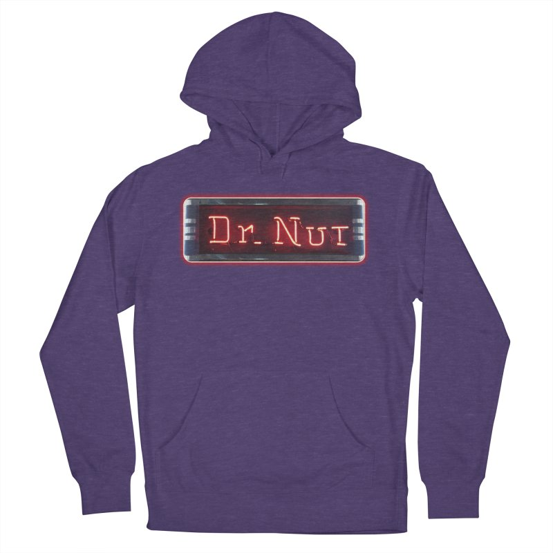 Dr Nut Neon Advertising Sign Vintage Soda Reproduction Ad New Orleans World Bottling Company Men's French Terry Pullover Hoody by Fringe Walkers Shirts n Prints