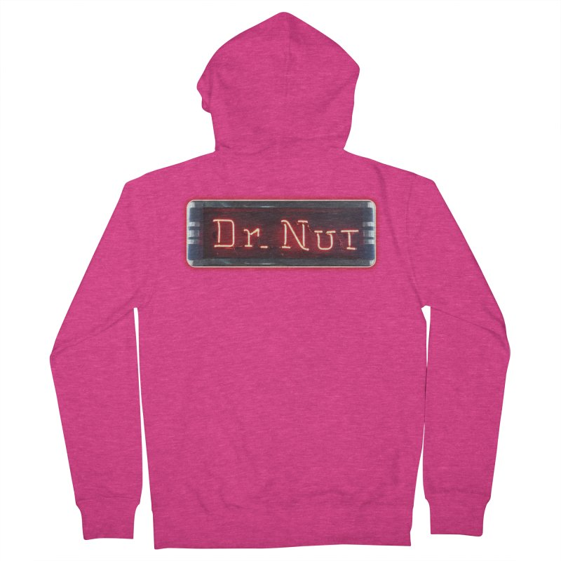 Dr Nut Neon Advertising Sign Vintage Soda Reproduction Ad New Orleans World Bottling Company Women's French Terry Zip-Up Hoody by Fringe Walkers Shirts n Prints