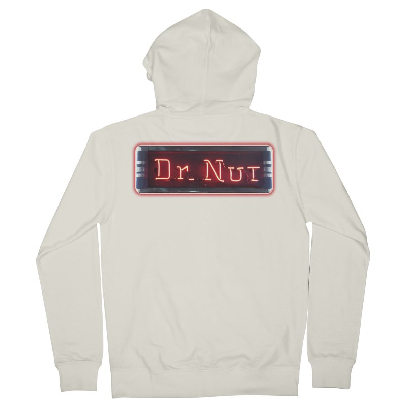Dr Nut Neon Advertising Sign Vintage Soda Reproduction Ad New Orleans World Bottling Company Women's Zip-Up Hoody by Fringe Walkers Shirts n Prints