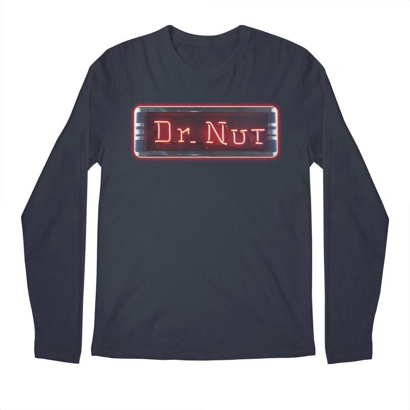 Dr Nut Neon Advertising Sign Vintage Soda Reproduction Ad New Orleans World Bottling Company Men's Regular Longsleeve T-Shirt by Fringe Walkers Shirts n Prints