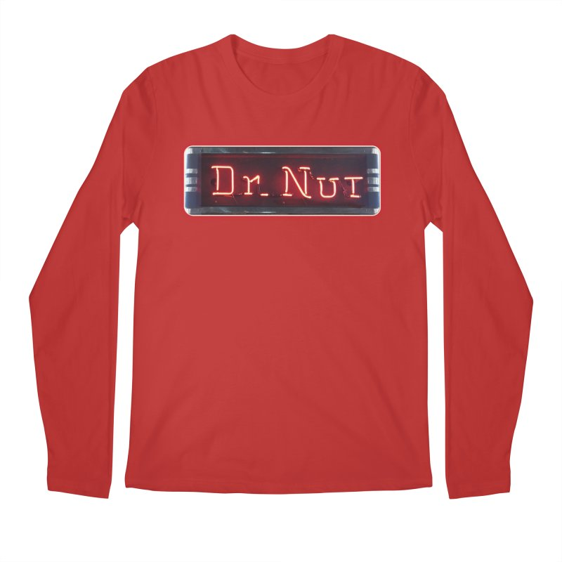 Dr Nut Neon Advertising Sign Vintage Soda Reproduction Ad New Orleans World Bottling Company Men's Regular Longsleeve T-Shirt by Fringe Walkers Shirts n Prints