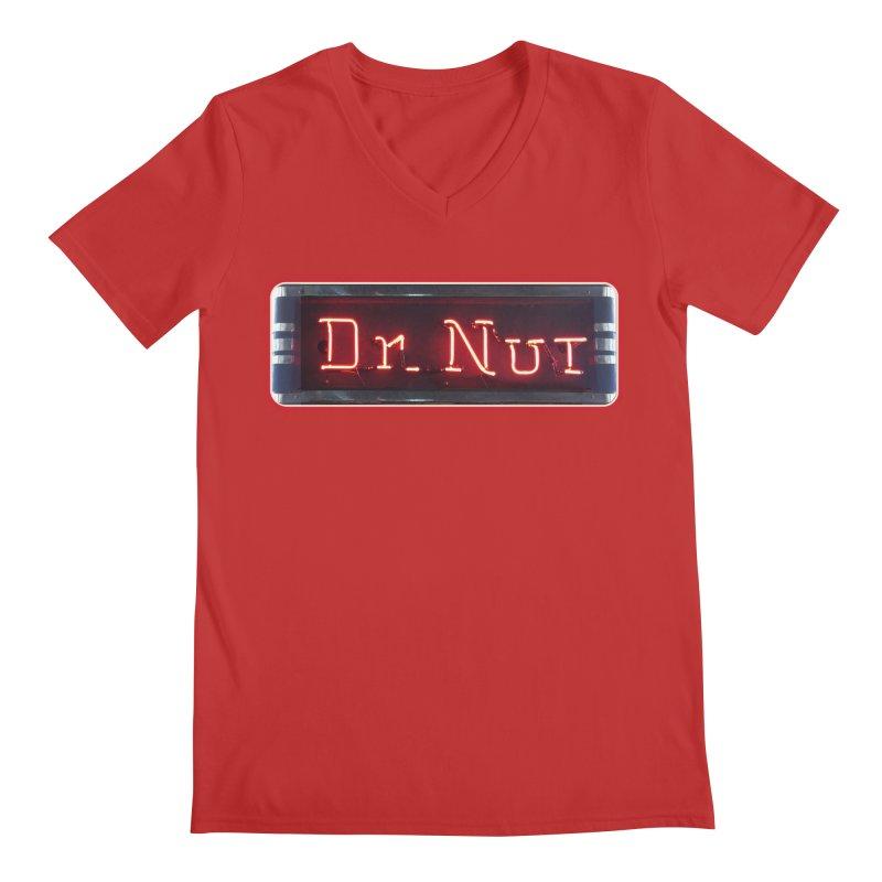 Dr Nut Neon Advertising Sign Vintage Soda Reproduction Ad New Orleans World Bottling Company Men's Regular V-Neck by Fringe Walkers Shirts n Prints