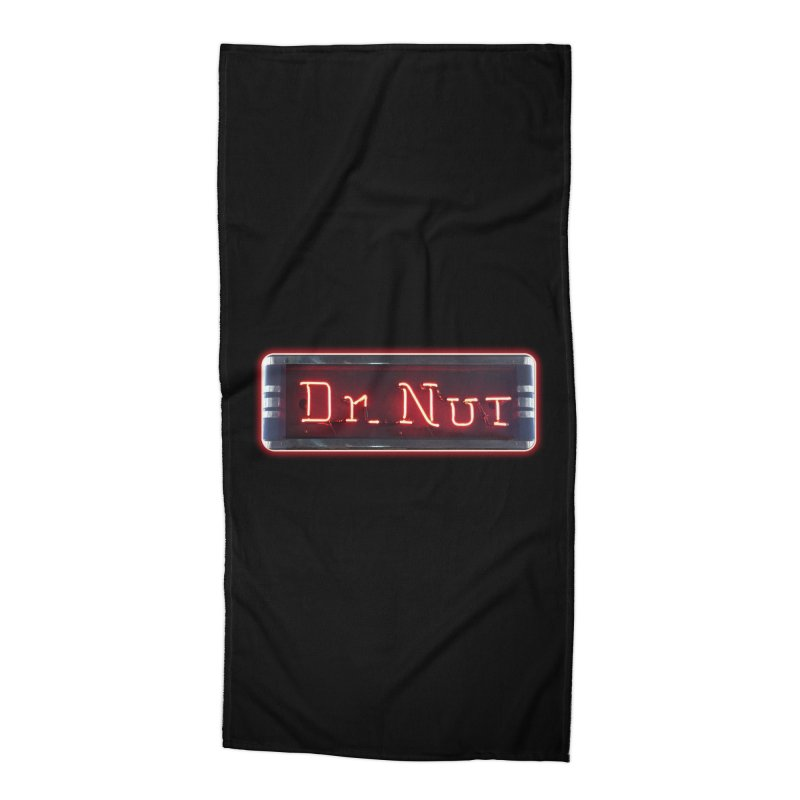 Dr Nut Neon Advertising Sign Vintage Soda Reproduction Ad New Orleans World Bottling Company Accessories Beach Towel by Fringe Walkers Shirts n Prints