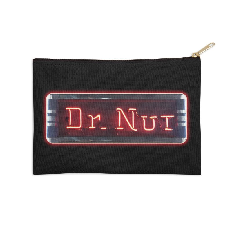 Dr Nut Neon Advertising Sign Vintage Soda Reproduction Ad New Orleans World Bottling Company Accessories Zip Pouch by Fringe Walkers Shirts n Prints