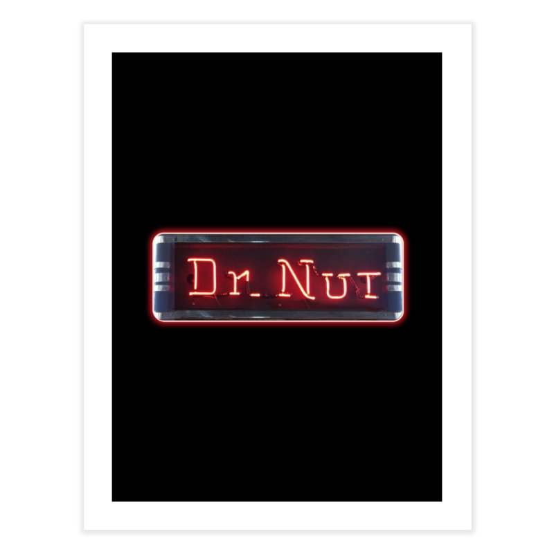 Dr Nut Neon Advertising Sign Vintage Soda Reproduction Ad New Orleans World Bottling Company Home Fine Art Print by Fringe Walkers Shirts n Prints