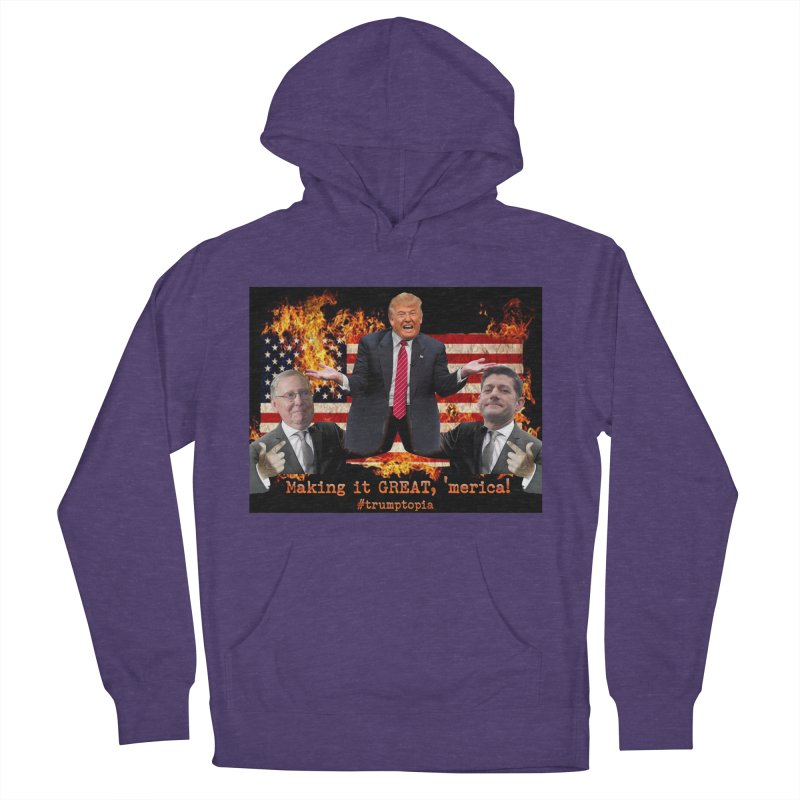 Trumptopia Women's French Terry Pullover Hoody by Fringe Walkers Shirts n Prints