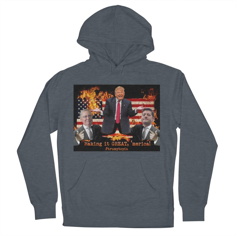 Trumptopia Men's Pullover Hoody by Fringe Walkers Shirts n Prints