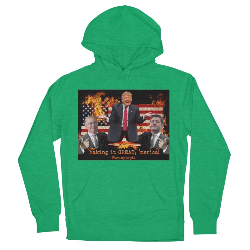 Trumptopia Men's French Terry Pullover Hoody by Fringe Walkers Shirts n Prints