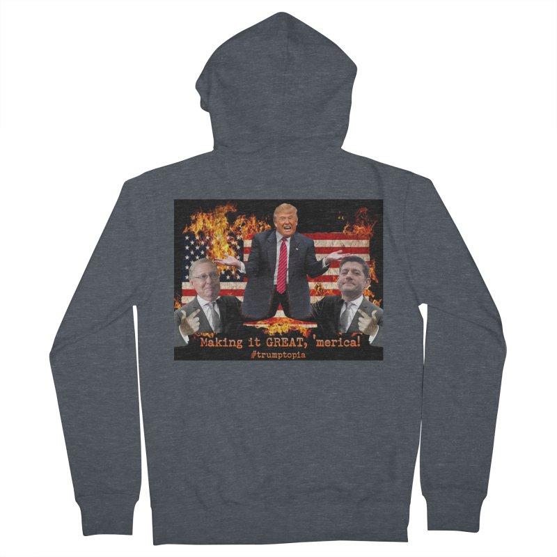Trumptopia Men's Zip-Up Hoody by Fringe Walkers Shirts n Prints