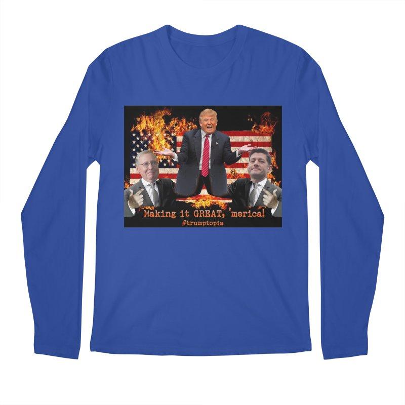 Trumptopia Men's Regular Longsleeve T-Shirt by Fringe Walkers Shirts n Prints