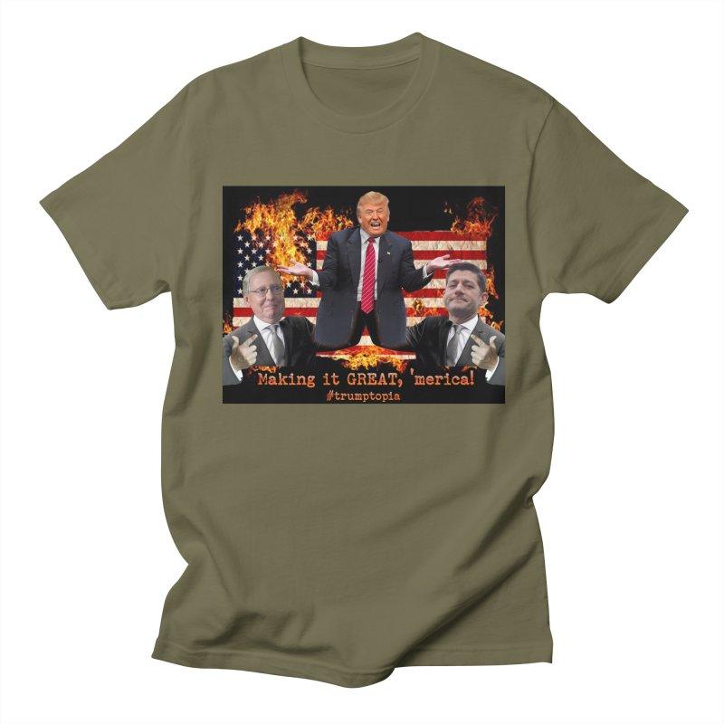 Trumptopia Men's Regular T-Shirt by Fringe Walkers Shirts n Prints